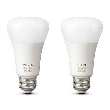 Philips Hue White & Color Ambiance E27 Bluetooth x 2 Pack de 2 ampoules E27 - 9 Watts