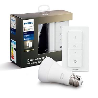 Philips Hue White Kit Dimming E27 Bluetooth 1 ampoule E27 - Interrupteur avec variateur