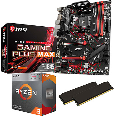 Kit Upgrade PC AMD Ryzen 3 3200G MSI B450 GAMING PLUS MAX 16 Go