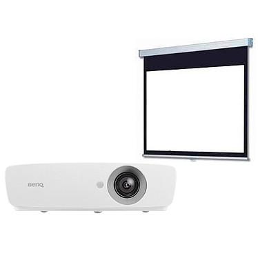 BenQ W1090 + LDLC Ecran manuel - Format 16:9 - 220 x 124 cm Vidéoprojecteur DLP Full HD 3D Ready 1080p 2000 Lumens HDMI/MHL + Ecran manuel - Format 16:9 - 220 x 124 cm
