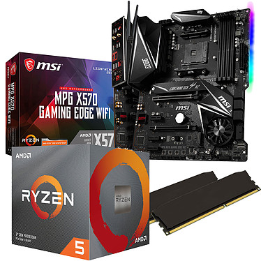 Kit Upgrade PC AMD Ryzen 5 3600 MSI MPG X570 GAMING EDGE WIFI 16 Go
