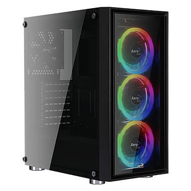 Aerocool Quartz Revo Boîtier Moyen Tour avec rétroéclairage RGB adressable et fenêtres en verre trempé