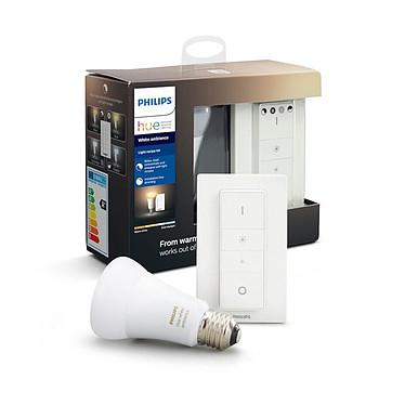 Philips Hue White Ambiance Kit E27 Bluetooth 1 ampoule E27 - Interrupteur avec variateur