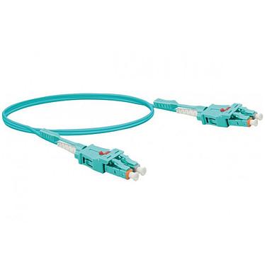 Jarretière optique duplex uniboot 2mm OM3 LC-UPC/LC-UPC Bleu (3 mètres) Câble fibre optique à faible encombrement, jarretières Uniboot et certifié LSOH