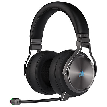 Corsair Virtuoso RGB Wireless SE (Gris) Auriculares Circum-aurales High Fidelity para Gaming - Micrófono extraíble - Tecnología SLIPSTREAM WIRELESS - PC (PS4/XboxOne/Switch compatible sólo por cable)