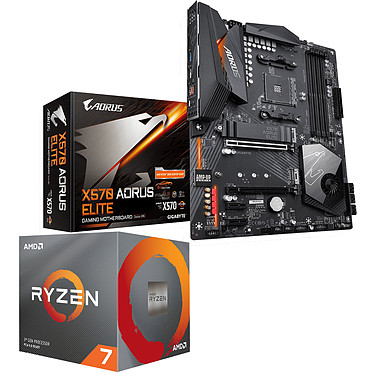 Kit Upgrade PC AMD Ryzen 7 3700X Gigabyte X570 AORUS ELITE