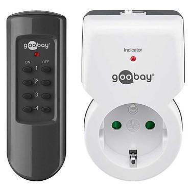 Goobay Starter Kit Radio Controlled Socket (1 prise) Adaptateur radio pour prise de courant avec télécommande (1 prise)