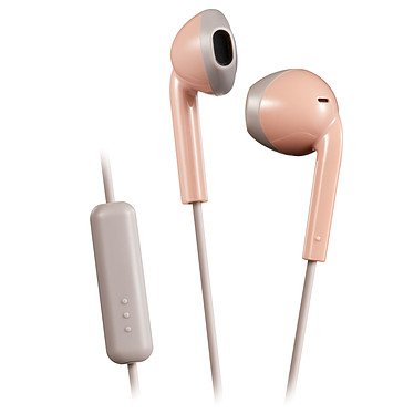 JVC HA-F19M Rose/Gris Écouteurs filaires IPX2 avec télécommande et microphone