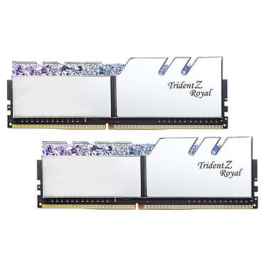 G.Skill Trident Z Royal 64 Go (2 x 32 Go) DDR4 2666 MHz CL18 - Argent Kit Dual Channel 2 barrettes de RAM DDR4 PC4-21300 - F4-2666C18D-64GTRS avec LED RGB