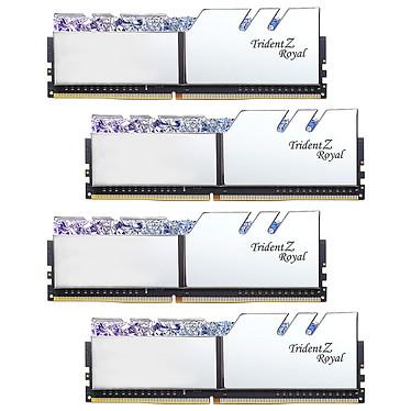 G.Skill Trident Z Royal 128 GB (4 x 32 GB) DDR4 3200 MHz CL16 - Plata Kit Quad-Channel 4 tiras de RAM DDR4 PC4-25600 - F4-3200C16Q-128GTRS con LEDs RGB