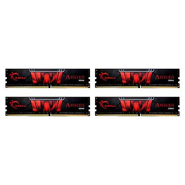 G.Skill Aegis 64 Go (4 x 16 Go) DDR4 3200 MHz CL16 Kit Quad Channel 4 barrettes de RAM DDR4 PC4-25600 - F4-3200C16Q-64GIS