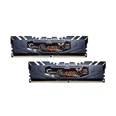 G.Skill Flare X Series 32 Go (2 x 16 Go) DDR4 3200 MHz CL14 Kit Dual Channel 2 barrettes de RAM DDR4 PC4-25600 - F4-3200C14D-32GFX