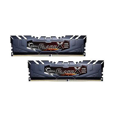 G.Skill Flare X Series 32 Go (2 x 16 Go) DDR4 3200 MHz CL16 Kit Dual Channel 2 barrettes de RAM DDR4 PC4-25600 - F4-3200C16D-32GFX