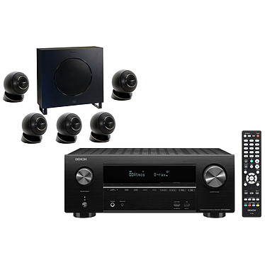 Denon AVR-X2600H Noir + Cabasse Eole 4 Noir Ampli-tuner Home Cinema 3D Ready 7.2 - Dolby Atmos / DTS:X - 8x HDMI 4K UHD, HDCP 2.3, HDR - Wi-Fi/Bluetooth/AirPlay 2 - Multiroom - Amazon Alexa / Google Assistant + Ensemble 5.1