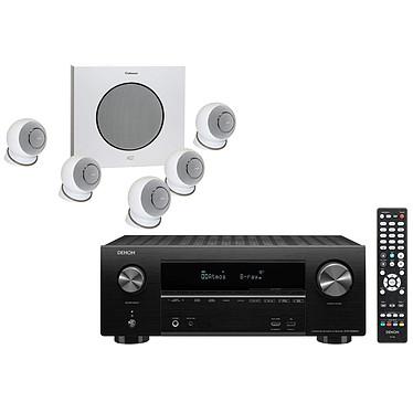 Denon AVR-X2600H Noir + Cabasse Eole 4 Blanc Ampli-tuner Home Cinema 3D Ready 7.2 - Dolby Atmos / DTS:X - 8x HDMI 4K UHD, HDCP 2.3, HDR - Wi-Fi/Bluetooth/AirPlay 2 - Multiroom - Amazon Alexa / Google Assistant + Ensemble 5.1
