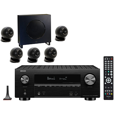 Denon AVR-X3600H Noir + Cabasse Eole 4 Noir Ampli-tuner Home Cinema 3D Ready 9.2 - IMAX Enhanced - Dolby Atmos / DTS:X - 8x HDMI 4K UHD, HDCP 2.3, HDR - Wi-Fi/Bluetooth/DLNA/AirPlay 2 - Multiroom - Amazon Alexa / Google Assistant + Ensemble 5.1