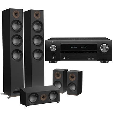 Denon AVR-X1600H + Jamo S 809 HCS Noir Ampli-tuner Home Cinema 3D Ready 7.2 - Dolby Atmos / DTS:X - 8x HDMI 4K UHD, HDCP 2.3, HDR - Wi-Fi/Bluetooth/AirPlay 2 - Multiroom - Amazon Alexa / Google Assistant + Ensemble 5.0 compatible Dolby Atmos