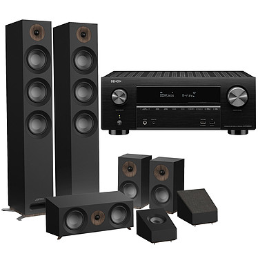 Denon AVR-X3600H Noir + Jamo S 809 HCS Noir + Jamo S 8 ATM Noir Ampli-tuner Home Cinema 3D Ready 9.2 - IMAX Enhanced - Dolby Atmos / DTS:X - 8x HDMI 4K UHD, HDCP 2.3, HDR - Wi-Fi/Bluetooth/DLNA/AirPlay 2 - Multiroom - Amazon Alexa / Google Assistant + Pack d'enceintes 5.0.2 Dolby Atmos