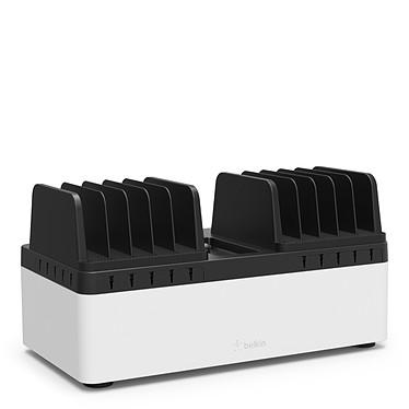 Belkin Store and Charge Go avec compartiments de rangement fixes Station de recharge avec emplacements fixes + Bloc multiprise parafoudre avec 10 prises et 1 interrupteur marche/arrêt