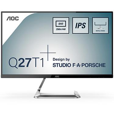"AOC 27"" LED - Q27T1 2560 x 1440 pixels - 5 ms - Format large 16/9 - Dalle IPS - 75 Hz - FreeSync - HDMI/DisplayPort - Noir/Aluminium"