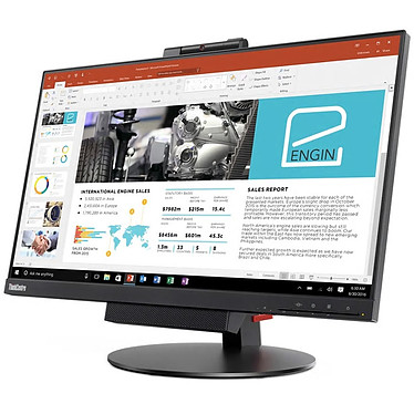 "Lenovo 23.8"" LED - ThinkCentre Tiny-in-One 24 Gen3 (10QYPAT1EU) 1920 x 1080 pixels - 14 ms - Format large 16/9 - Dalle IPS - DisplayPort - Webcam - Noir"