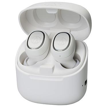 Audio-Technica ATH-CK3TW Blanc Écouteurs intra-auriculaires True Wireless - Bluetooth 5.0 aptX - Autonomie 6h - Commandes tactiles - Micro - Boîtier charge/transport