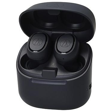 Audio-Technica ATH-CK3TW Noir Écouteurs intra-auriculaires True Wireless - Bluetooth 5.0 aptX - Autonomie 6h - Commandes tactiles - Micro - Boîtier charge/transport