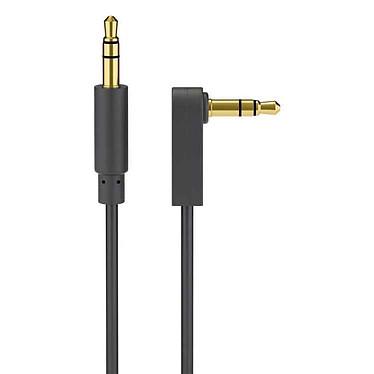 Goobay Cordon Audio Stéréo Jack 3.5 mm Coudé 1 m Cordon audio stéréo jack 3.5 mm à angle droit (Mâle/Mâle) - 1 m