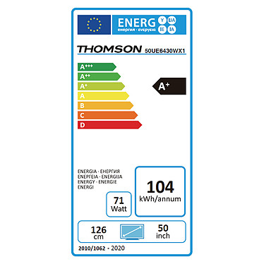Thomson 50UE6430W pas cher