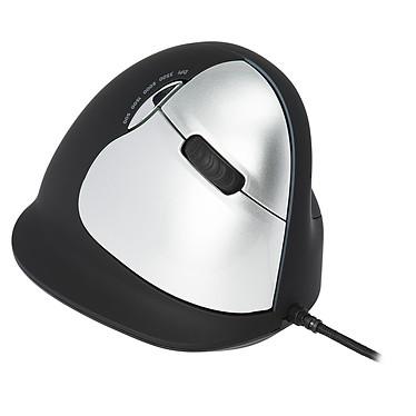 HE Wired Vertical Mouse Large (pour droitier) Souris filaire ergonomique - droitier - capteur laser 3400 dpi - 5 boutons - verticale