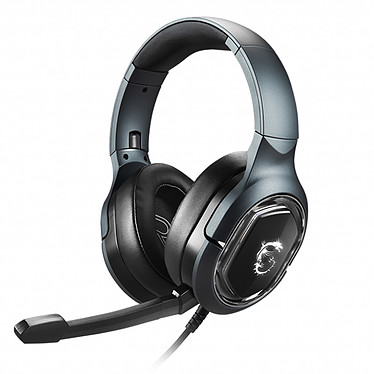 MSI Immerse GH50 Casque-micro filaire pour gamer - Microphone détachable - Son Surround 7.1 avec vibrations - RGB Mystic Light - Compatible Windows 10, 8.1, 8 et 7