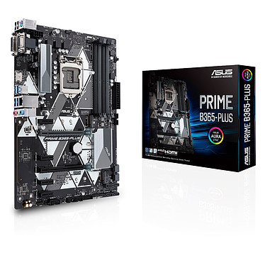 ASUS PRIME B365-PLUS Carte mère ATX Socket 1151 Intel B365 Express - 4x DDR4 - SATA 6Gb/s + M.2 - USB 3.0 - 1x PCI-Express 3.0 16x