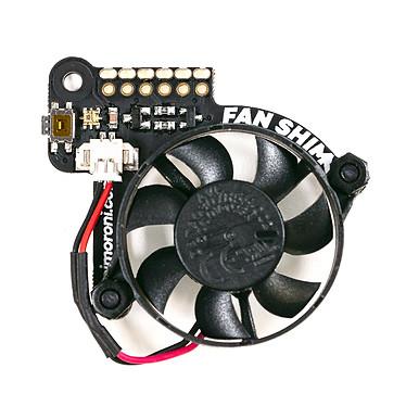 Pimoroni Fan SHIM Ventilateur de processeur 30 mm 5V DC compatible Raspberry Pi 4 (et 3 B +, 3 A +)