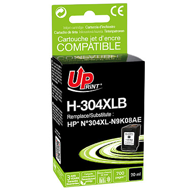 UPrint H-304XL Noir Cartouche d'encre noire compatible HP 304XL