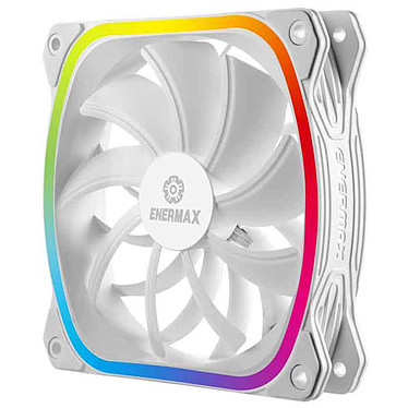 Enermax SquA. RGB White 120 mm Ventilateur de boîtier RGB 120 mm Blanc