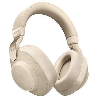 Jabra Elite 85h Or/Beige Casque circum-aural sans fil - Bluetooth 5.0 - Réduction de bruit - Autonomie 36h - Commandes/Micro - USB-C - Etui de transport