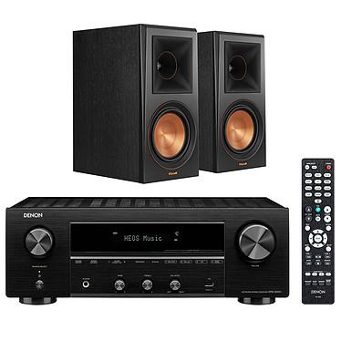 Denon DRA-800H Noir + Klipsch RP-600M Ebène Ampli-tuner hi-fi stéréo - 100W/canal - Hi-Res Audio - FM/DAB+ - 5x HDMI 4K UHD HDCP 2.3 - HDR - Multiroom - Wi-Fi/Bluetooth/AirPlay 2 - Amazon Alexa/Google Assistant + Enceinte bibliothèque 100W (par paire)