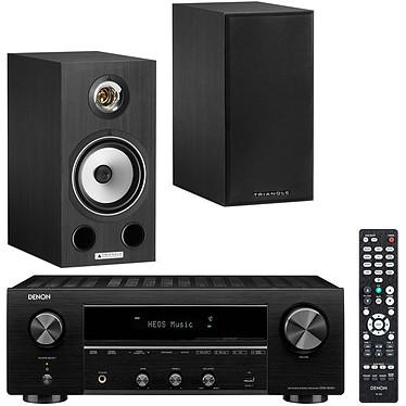 Denon DRA-800H Noir + Triangle Comète Ez Black Ash Ampli-tuner hi-fi stéréo - 100W/canal - Hi-Res Audio - FM/DAB+ - 5x HDMI 4K UHD HDCP 2.3 - HDR - Multiroom - Wi-Fi/Bluetooth/AirPlay 2 - Amazon Alexa/Google Assistant + Enceinte bibliothèque 80W (par paire)