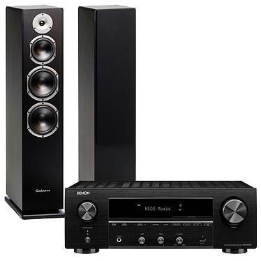 Denon DRA-800H Noir + Cabasse Alderney MT32 Noir Satin Ampli-tuner hi-fi stéréo - 100W/canal - Hi-Res Audio - FM/DAB+ - 5x HDMI 4K UHD HDCP 2.3 - HDR - Multiroom - Wi-Fi/Bluetooth/AirPlay 2 - Amazon Alexa/Google Assistant + Enceinte colonne (par paire)