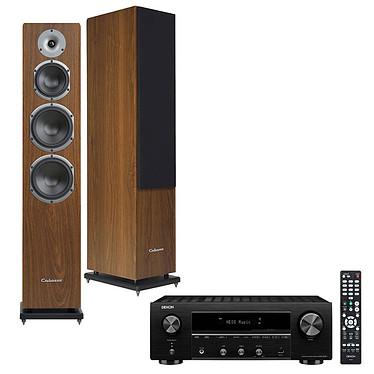 Denon DRA-800H Noir + Cabasse Alderney MT32 Noyer Ampli-tuner hi-fi stéréo - 100W/canal - Hi-Res Audio - FM/DAB+ - 5x HDMI 4K UHD HDCP 2.3 - HDR - Multiroom - Wi-Fi/Bluetooth/AirPlay 2 - Amazon Alexa/Google Assistant + Enceinte colonne (par paire)