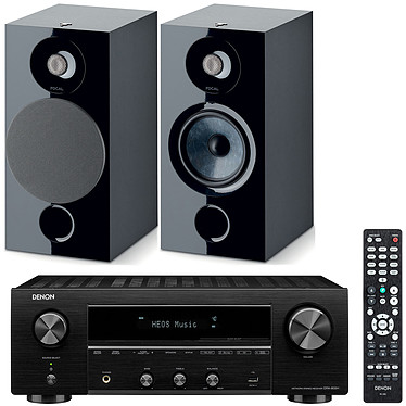 Denon DRA-800H Noir + Focal Chora 806 Noir Ampli-tuner hi-fi stéréo - 100W/canal - Hi-Res Audio - FM/DAB+ - 5x HDMI 4K UHD HDCP 2.3 - HDR - Multiroom - Wi-Fi/Bluetooth/AirPlay 2 - Amazon Alexa/Google Assistant + Enceinte bibliothèque (par paire)