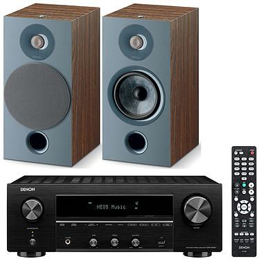 Denon DRA-800H Noir + Focal Chora 806 Dark Wood Ampli-tuner hi-fi stéréo - 100W/canal - Hi-Res Audio - FM/DAB+ - 5x HDMI 4K UHD HDCP 2.3 - HDR - Multiroom - Wi-Fi/Bluetooth/AirPlay 2 - Amazon Alexa/Google Assistant + Enceinte bibliothèque (par paire)