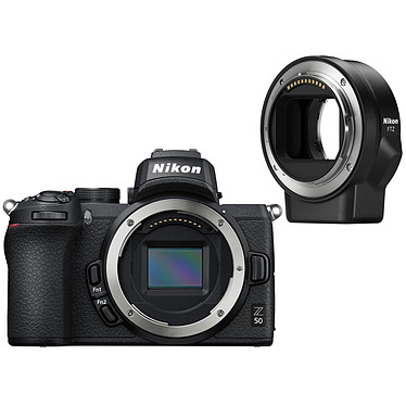 "Nikon Z 50 FTZ Appareil photo hybride APS-C 20.9 MP - 51 200 ISO - Ecran 3.2"" tactile inclinable - Viseur OLED - Vidéo 4K Ultra HD - Wi-Fi/Bluetooth (boîtier nu) + Adaptateur pour monture FTZ"