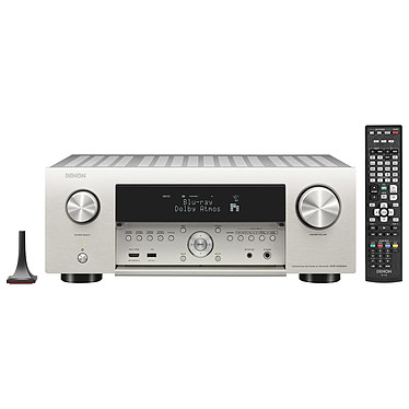 Denon AVR-X4500H Argent Ampli-tuner Home Cinema 3D Ready 9.2 - Dolby Atmos / DTS:X - IMAX Enhanced - Auro 3D - 8x HDMI 4K Ultra HD, HDCP 2.2 - HDR - Wi-Fi/Bluetooth - AirPlay 2 - Multiroom - Amazon Alexa