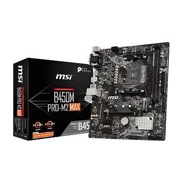 MSI B450M PRO-M2 MAX Carte mère micro-ATX Socket AM4 AMD B450 - 2x DDR4 - SATA 6Gb/s + M.2 - USB 3.0 - 1x PCI-Express 3.0 16x