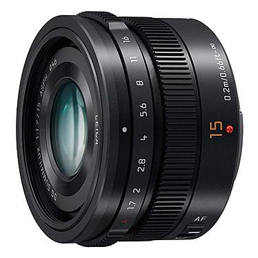 Panasonic Lumix H-X015E Noir Objectif standard Leica DG Summilux - 15mm - f/1.7 - Micro 4/3