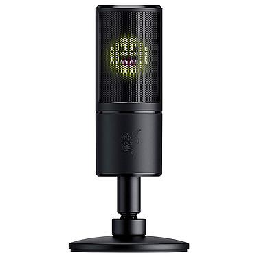 Razer Seiren Emote Microphone USB compact avec écran à émoticônes LED 8 bits pour diffusion streaming