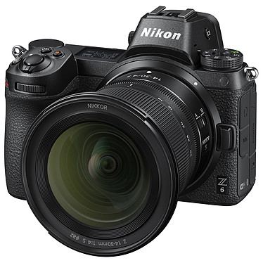 "Nikon Z 6 + 14-30mm f/4 S Appareil photo hybride plein format 24.5 MP - 51 200 ISO - Ecran 3.2"" tactile inclinable - Viseur OLED - Vidéo Ultra HD - Wi-Fi/Bluetooth + Objectif ultra grand-angle 14-30 mm f/4 plein format"