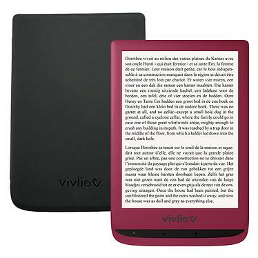 """Vivlio Touch Lux 4 Rouge + Pack d'eBooks OFFERT + Housse Noire Liseuse eBook Wi-Fi - Écran tactile 6"""" 758 x 1024 - 8 Go - MicroSD - Pack eBooks offert + Housse de protection"""
