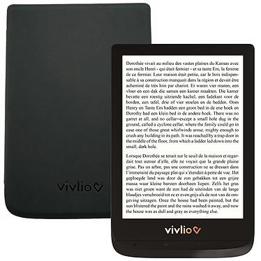 """Vivlio Touch Lux 4 Noir + Pack d'eBooks OFFERT + Housse Noire Liseuse eBook Wi-Fi - Écran tactile 6"""" 758 x 1024 - 8 Go - MicroSD - Pack eBooks offert + Housse de protection"""